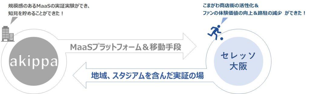 akippaとセレッソ大阪の関係図